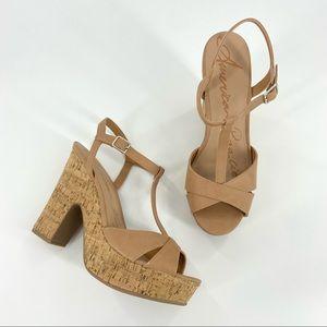American Rag Jamie T-Strap Platform Dress Sandals